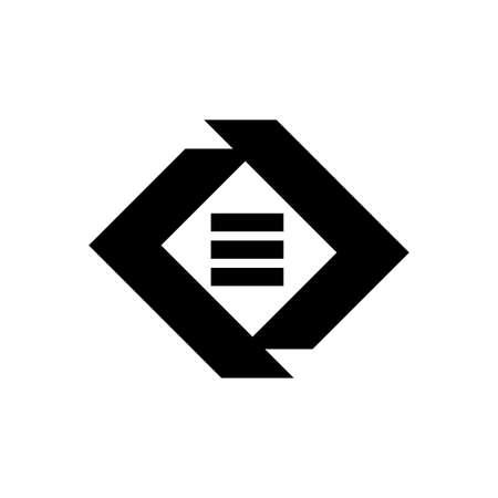 ED, DE, EO ornamental initials geometric company logo and vector icon
