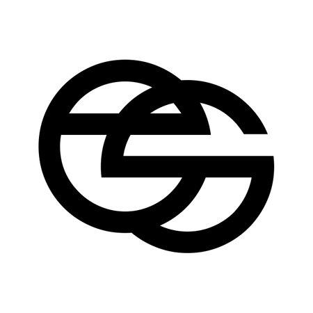 es, eg, se initial geometric logo and vector icon