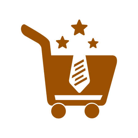 star seller e commerce cart or basket icon and vector logo