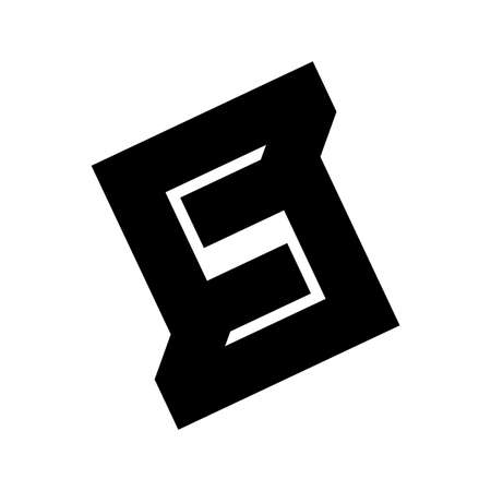 S, SS ,NS, SNS initial geometric company logo and vector icon