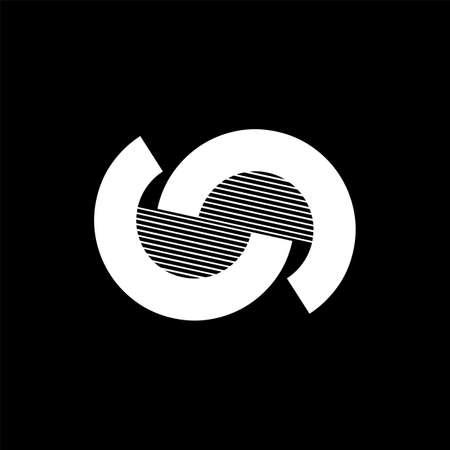N, CC, CNC, CSC initials geometric company logo and vector icon