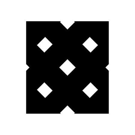 X ornamental initials geometric company logo and vector icon 矢量图像
