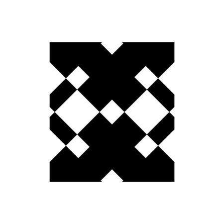 X, OX, EXE initials geometric company logo and vector icon