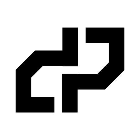 DP, DIP initials geometric company logo and vector icon