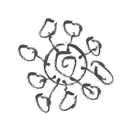 corona virus epidemic ink art symbol logo and icon