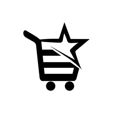 star seller cart icon and logo vector for trusted seller
