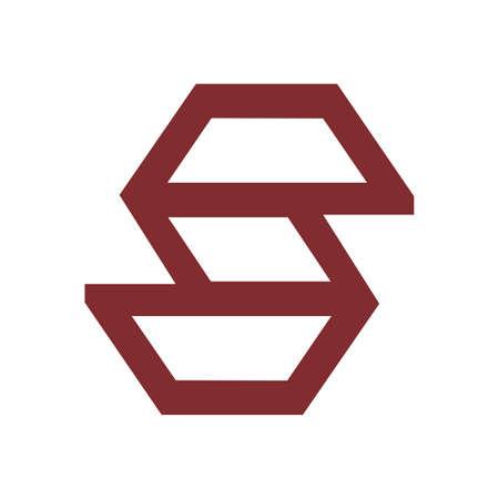 S initials geometric line art logo and vector icon 矢量图像