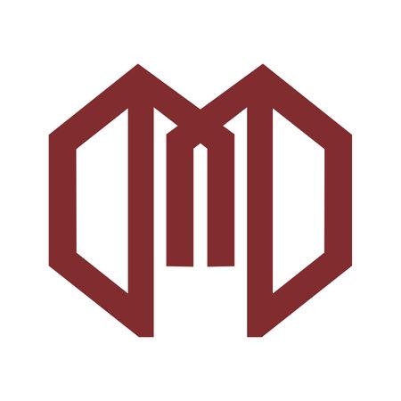 M, MM, MN initials geometric line art logo and vector icon 矢量图像