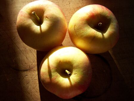 progeny: picture of a still-life with apples Stock Photo
