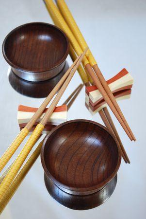 still-life with chines chopsticks photo