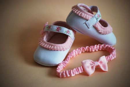 baby flower: picture of a shoes for newborn girl