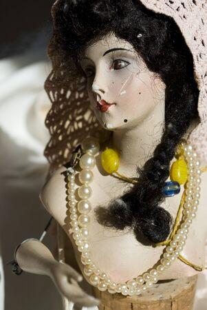 antique porcelain doll photo