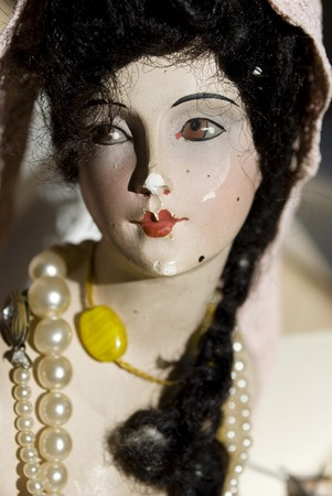 girl doll: antique porcelain doll