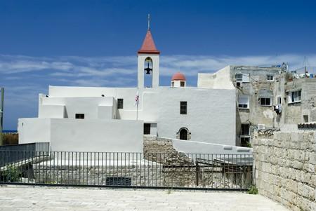 greek orthodox church in Acre  Akko , Israel photo