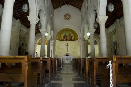 nazareth: Saint Josephs Church in Nazareth, Israel Editorial