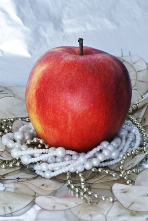 christmas apple: mela di Natale Archivio Fotografico