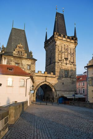 Charles bridge gate, Prague Stock Photo - 13109958