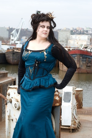 steampunk model photo