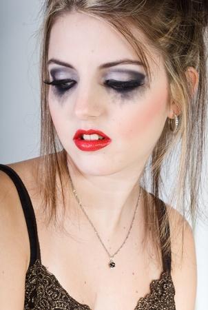 beautiful sad woman photo