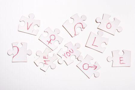 love puzzle concept photo