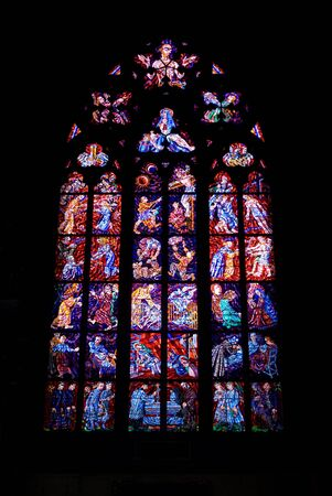 vitus: stained glass windows in Saint Vitus cathedral, Prague