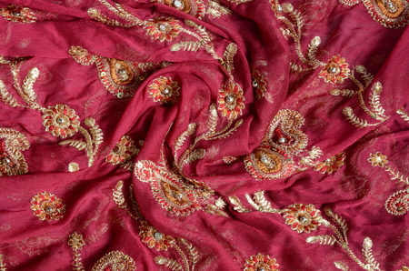 indian fabric photo