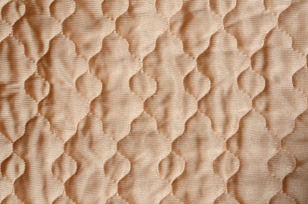 quilted: quilted satin fabric Stock Photo