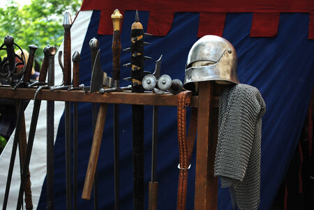 medieval weapons: medieval  weapons Stock Photo