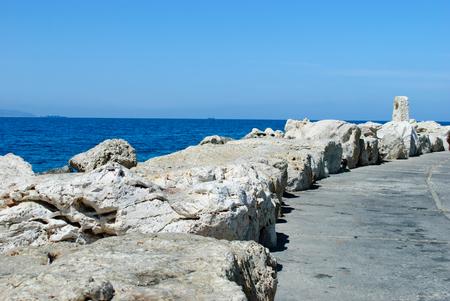 acre: sea in Akko  Acre , Israel Stock Photo