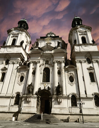 Saint Nicholas Church in Prague, Czech republic photo
