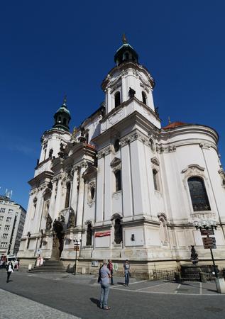 'saint nicholas': Saint Nicholas Church in Prague, Czech republic Editorial