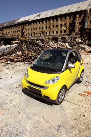 yellow car photo