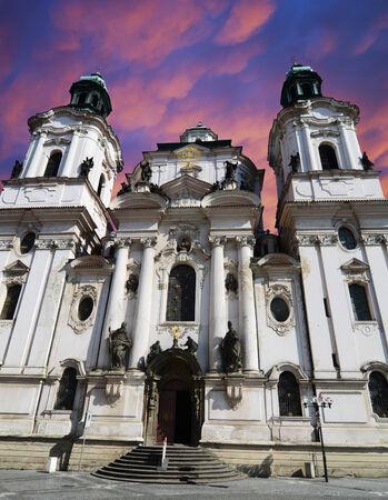 Saint Nicholas Church in Prague, Czech republic photo