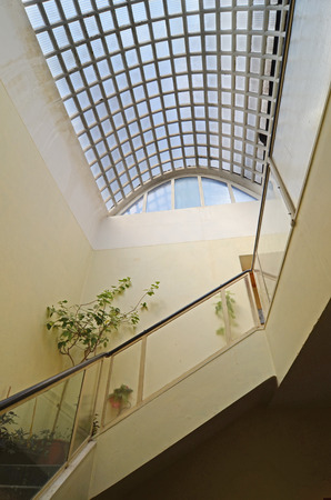 staircase and skylight