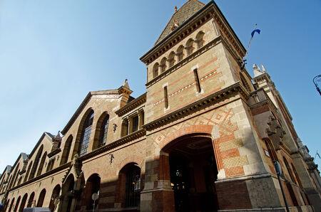 central market: Pasillo central del mercado (Vasarcsarnok) en Budapest Foto de archivo