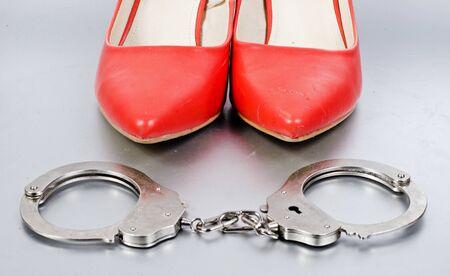 bdsm handcuff: bdsm concept Stock Photo