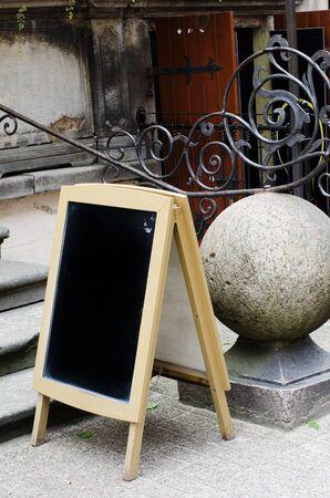 board: blank menu black board