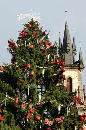 czech republic: Christmas in Prague, Czech republic Stock Photo