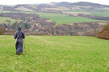 pilgrim costume: monk
