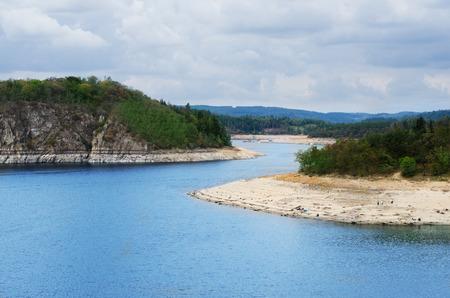 Dam Orlik during dry season