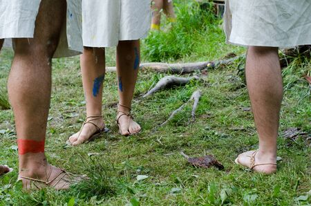 barefoot people: barefoot people Stock Photo