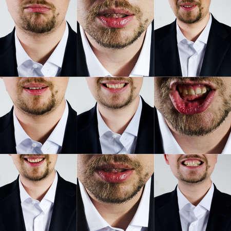 facial: man facial expression Stock Photo