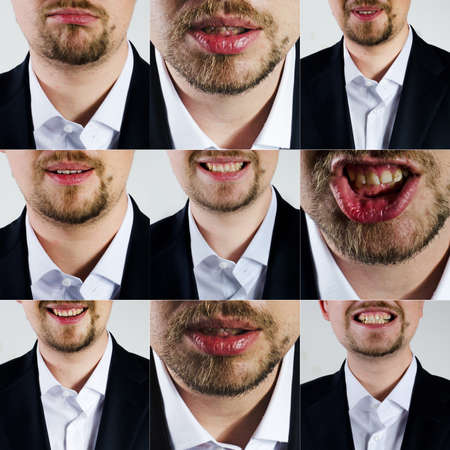 facial expression: man facial expression Stock Photo