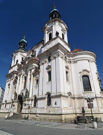 'saint nicholas': Saint Nicholas Church in Prague, Czech republic Stock Photo