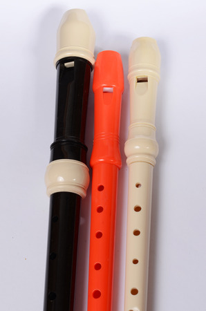 the soprano: recorders Stock Photo