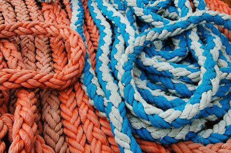 sailling: ropes Stock Photo