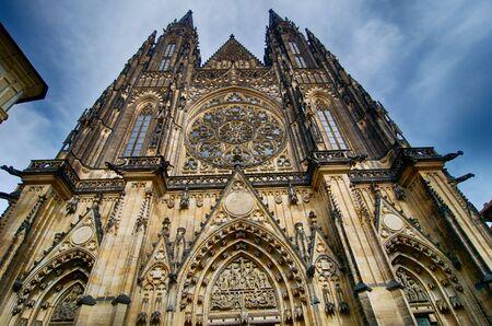 vitus: Saint Vitus Cathedral. The Metropolitan Cathedral of Saints Vitus, Wenceslaus and Adalbert. Prague. Czech republic. Stock Photo