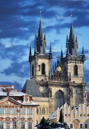 our: Church of our lady before Tyn, Prague Stock Photo