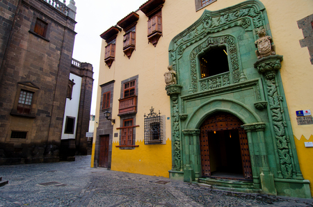 Las Palmas, Gran Canaria, Spain - October, 5th 2016: The Christopher Columbus house museum