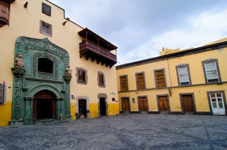 casa colon: Las Palmas, Gran Canaria, Spain - October, 5th 2016: The Christopher Columbus house museum